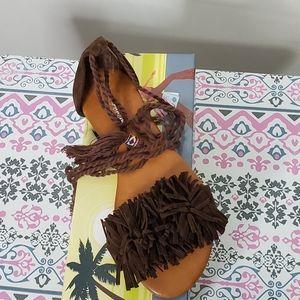 Brown Fringe Sandals - NIB